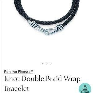 Tiffany Paloma Picasso leather & silver bracelet